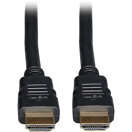 Tripp Lite 20ft High Speed HDMI Cable with Ethernet Digital Video / Audio 4Kx 2K M/M 20' - HDMI for Audio/Video Device, TV, Monitor, iPad - 20 ft - 1 x HDMI Male Digital Audio/Video - 1 x HDMI Male Digital Audio/Video - Shielding - Black""