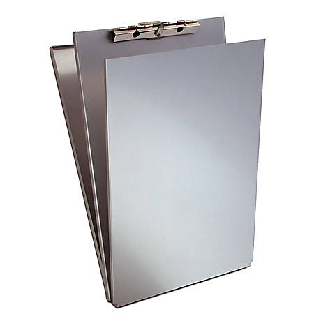 Saunders Top-Opening Form Holder Storage Clipboard, Legal Size, Silver