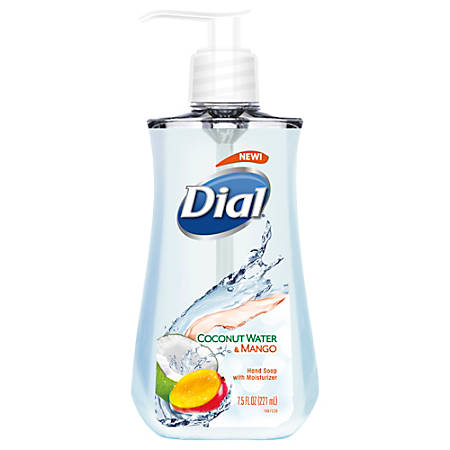 Dial® Antimicrobial Liquid Hand Soap, Coconut Water And Mango , 7.5 Oz