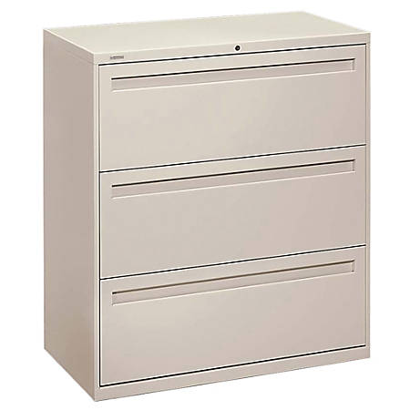 "HON® Brigade® 700 Series Lateral File, 3 Drawers, 36""W, Putty"