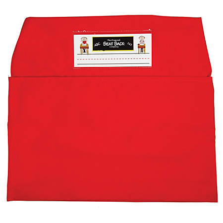 """Seat Sack™ Organizers, Standard, 14"""", Red, Grades 1-3, Pack Of 2"""