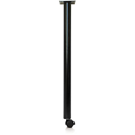 """Special.T Kingston Training Table Post Leg Base - Black Post Leg Base - 27.75"""" Height x 2"""" Width - Assembly Required"""