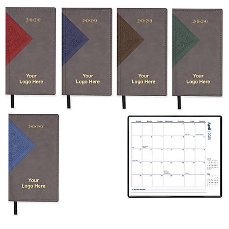 "Interlocked Monthly Pocket Calendar, 6 3/8"" x 3 5/8"", January–December"