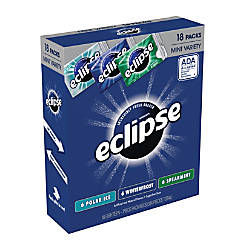Eclipse Mint Gum Box Of 18
