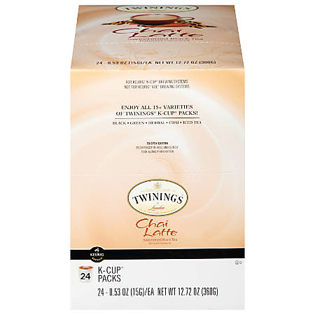 Twinings® Chai Latte K-Cups®, 12.72 Oz, Pack Of 24