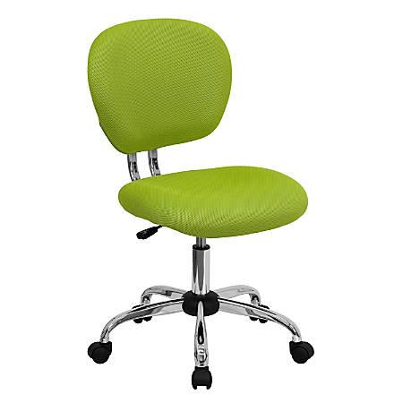 Flash Furniture Mesh Mid-Back Swivel Task Chair, Apple Green/Silver