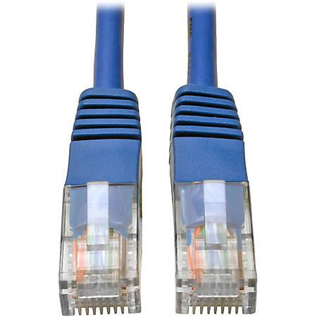 Tripp Lite 3ft Cat5e / Cat5 350MHz Molded Patch Cable RJ45 M/M Blue 3' - 3ft - 1 x RJ-45 Male - 1 x RJ-45 Male - Blue