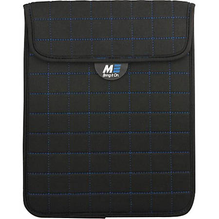 """Mobile Edge Neogrid Carrying Case (Sleeve) for 7"""" Apple iPad mini Tablet - Black - Bump Resistant, Scratch Resistant, Spill Resistant - Neoprene, Polysuede Interior - Blue Stitching - 8"""" Height x 6"""" Width x 0.5"""" Depth"""
