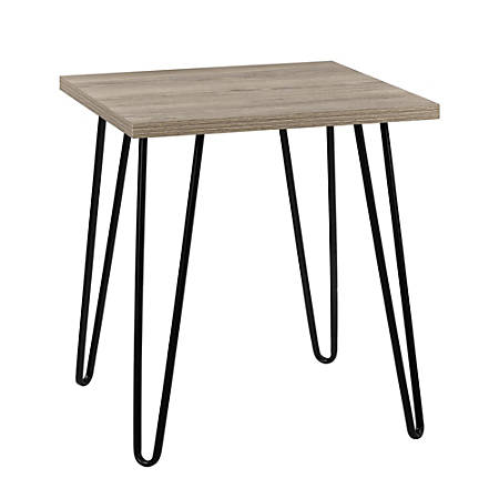 Ameriwood™ Home Owen Retro End Table, Square, Rustic Oak/Black