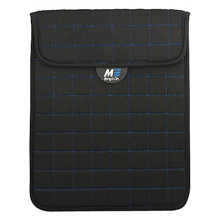"""Mobile Edge Neogrid Carrying Case (Sleeve) for 10"""" iPad - Black, Blue"""