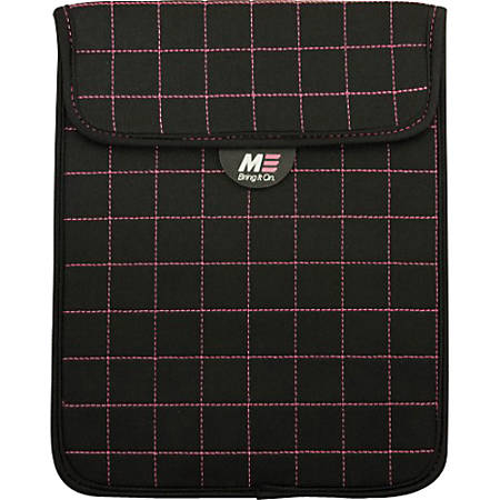 "Mobile Edge Neogrid Carrying Case (Sleeve) for 10"" iPad - Black, Pink - Neoprene, Polysuede Interior - 10"" Height x 8"" Width x 0.5"" Depth"