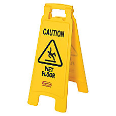 Rubbermaid Caution Wet Floor Safety Sign