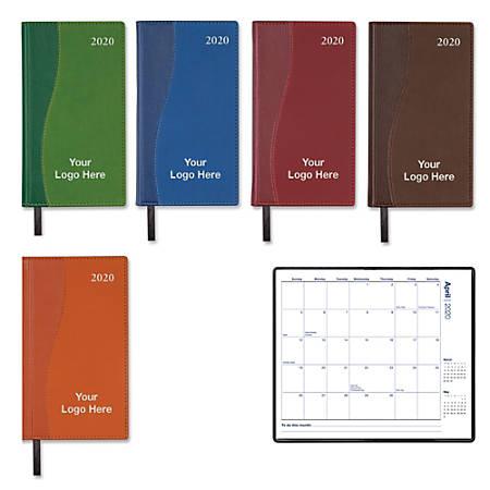 "Valiant Monthly Pocket Calendar, 6 3/8"" x 3 5/8"", January–December"