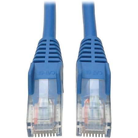 Tripp Lite 10ft Cat5e / Cat5 Snagless Molded Patch Cable RJ45 M/M Blue 10' - 10ft - 1 x RJ-45 Male - 1 x RJ-45 Male - Blue