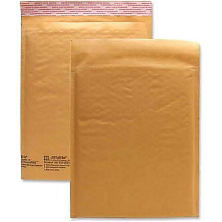 "Sealed Air JiffyLite Cellular Cushioned Mailers - Bubble - #2 - 8 1/2"" Width x 12"" Length - Peel & Seal - Kraft - 25 / Carton - Kraft"