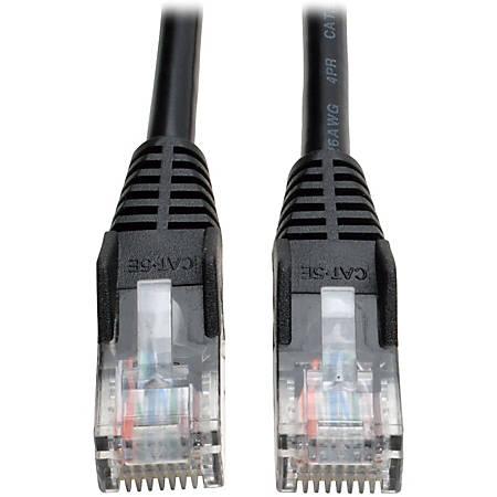 Tripp Lite 25ft Cat5e / Cat5 Snagless Molded Patch Cable RJ45 M/M Black 25' - 25ft - 1 x RJ-45 Male - 1 x RJ-45 Male - Black