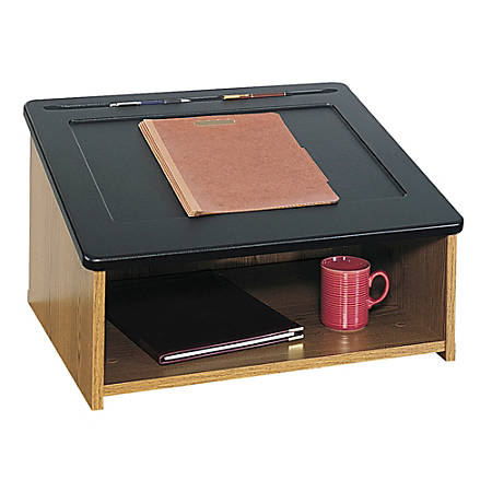 Safco® Tabletop Lectern, Medium Oak