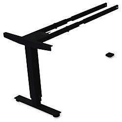 Lorell SitStand Desk Black Third leg