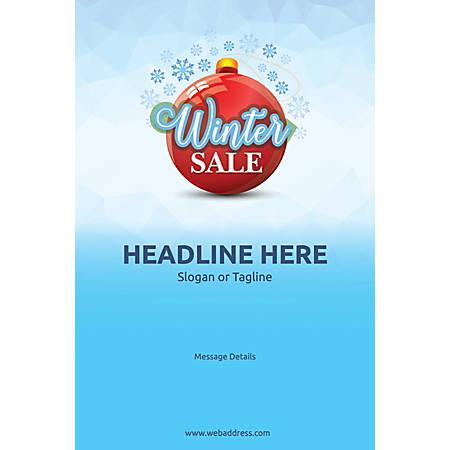 Custom Poster, Winter Sale, Vertical