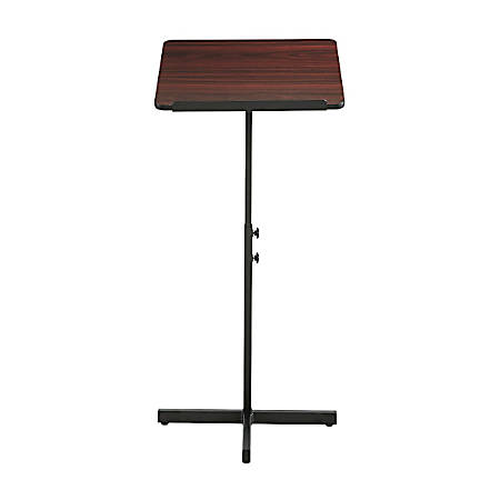 Safco® Adjustable Speaker Stand, Mahogany