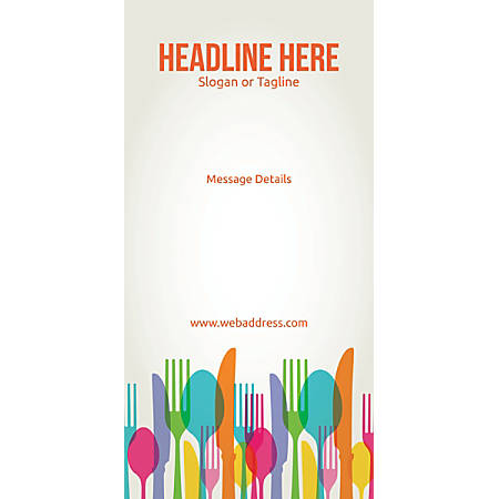 Custom Vertical Display Banner, Spoons And Forks