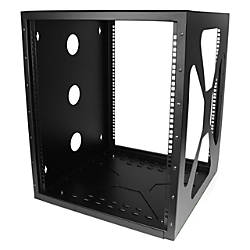 StarTechcom 12U Sideways Wallmount Rack for