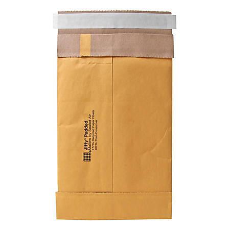 "Jiffy Mailer Padded Self-seal Mailers - Padded - 8 1/2"" Width x 14 1/2"" Length - Self-sealing - Kraft, Fiber - 100 / Carton - Natural"