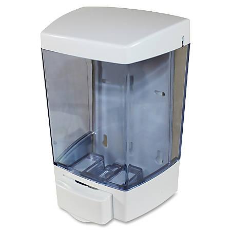 Genuine Joe 46oz Liquid Soap Dispenser - Manual - 1.44 quart Capacity - White - 12 / Carton
