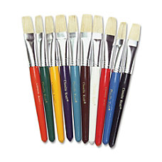 Chenille Kraft Assorted Paintbrushes 58 Flat