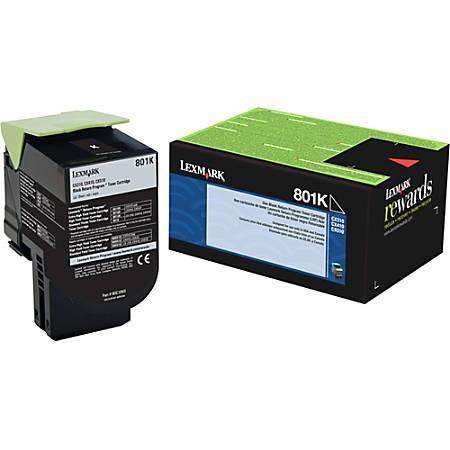 Lexmark™ 801K Return Program Black Toner Cartridge (80C10K0)