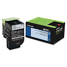 Lexmark 801K Return Program Black Toner