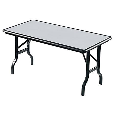 "Iceberg IndestrucTable™ Folding Table, 30"" x 60"", Granite"
