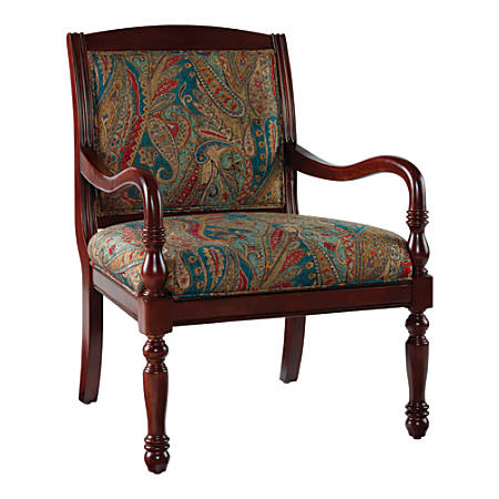 Powell® Home Fashions Carina Accent Chair, Multicolor Paisley/Brown
