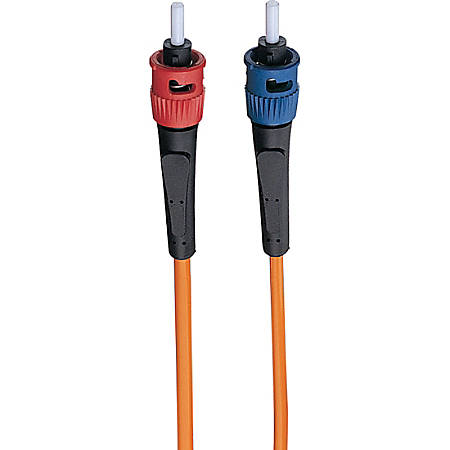 Tripp Lite 1M Duplex Multimode 62.5/125 Fiber Optic Patch Cable ST/ST 3' 3ft 1 Meter - ST Male - ST Male - 3ft