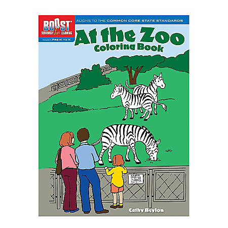 Dover Publications Boost™ Coloring Book, At the Zoo, Pre-K - K