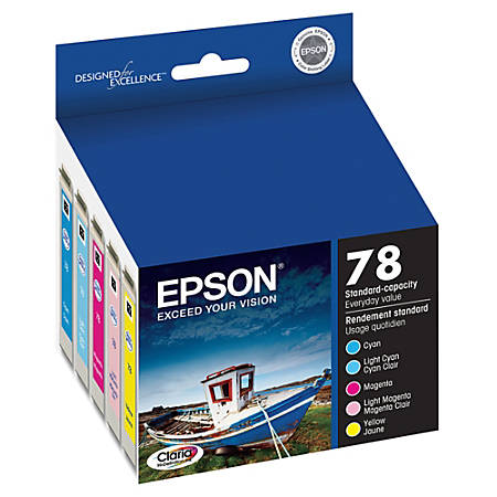 Epson® 78, (T078920) Claria® Hi-Definition Color Ink Cartridges, Pack Of 5