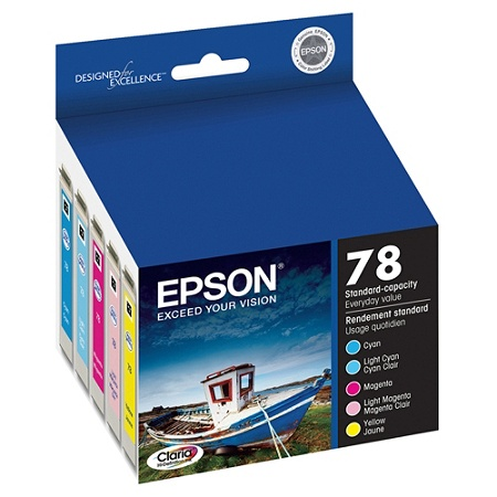 Epson 78 T078920 Claria Hi Definition Color Ink Cartridges Pack Of 5 By Office Depot OfficeMax