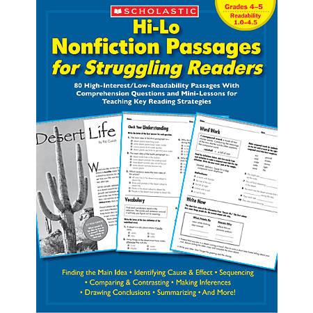 Scholastic Hi-Lo Nonfiction Passages — Grades 4-5