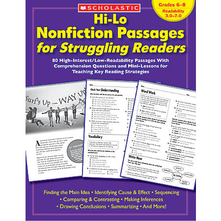 Scholastic Hi-Lo Nonfiction Passages — Grades 6-8