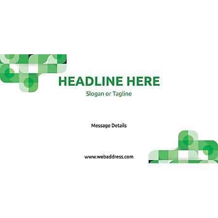Custom Horizontal Banner, Green Abstract