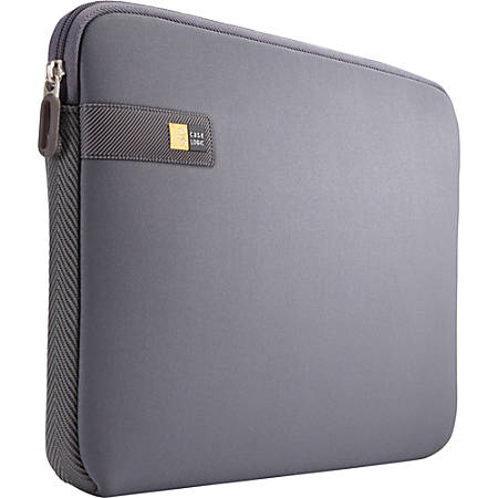 "Case Logic LAPS-113 Carrying Case (Sleeve) 13.3"" MacBook - Graphite - Ethylene Vinyl Acetate (EVA) Foam, Woven, Foam Interior - Textured - 10"" Height x 14"" Width x 1.1"" Depth"