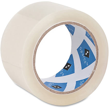 "Sparco Premium Heavy-duty Packaging Tape Roll - 2"" Width x 55 yd Length - 3"" Core - Acrylic Backing - Heavy Duty - 6 / Pack"