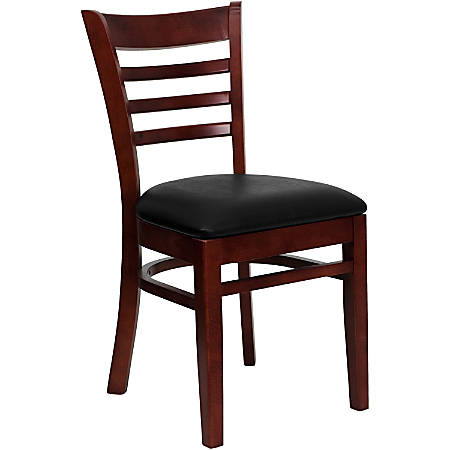 Flash Furniture HERCULES Ladder Back Restaurant Chair, Black/Mahogany