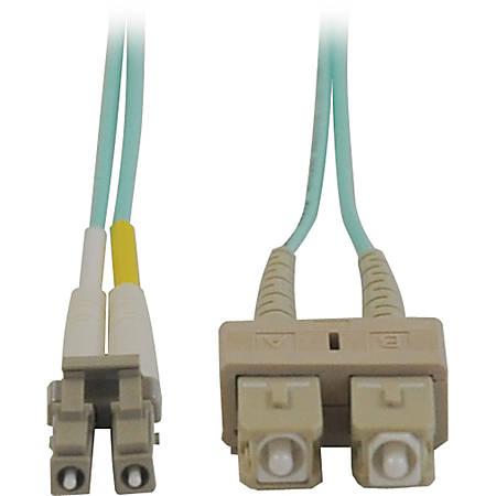 Tripp Lite 5M 10Gb Duplex Multimode 50/125 OM3 LSZH Fiber Optic Patch Cable LC/SC Aqua 16' 16ft 5 Meter
