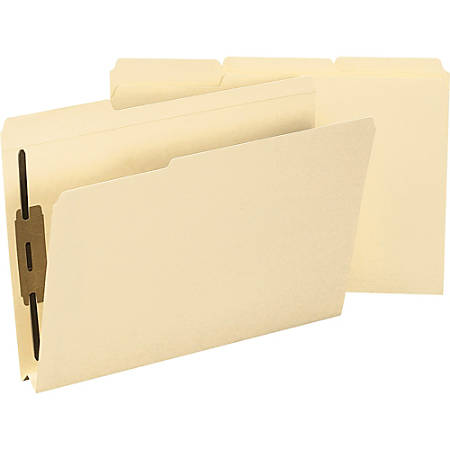 Smead® 2-Ply Manila Fastener Folders, Legal Size, Box Of 50