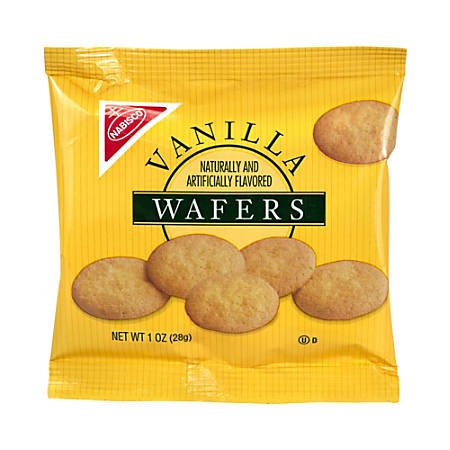 Vanilla Wafers Mini Cookies, 1 Oz Box, Pack Of 72 Boxes