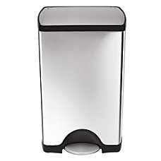 simplehuman Rectangular Step Trash Can 10