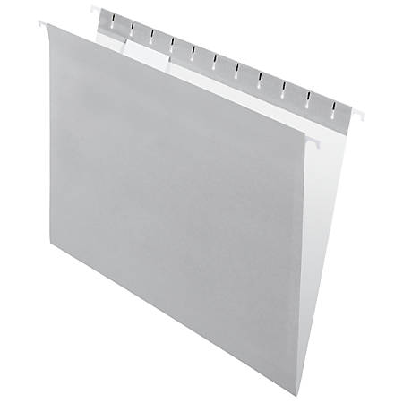 "Office Depot® Brand 2-Tone Hanging File Folders, 1/5 Cut, 8 1/2"" x 11"", Letter Size, Gray, Box Of 25 Folders"