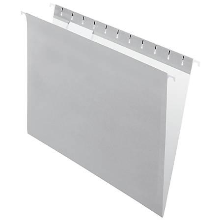 "Office Depot® Brand 2-Tone Hanging File Folders, 1/5 Cut, 8 1/2"" x 11"", Letter Size, Gray, Box Of 25 Folders"