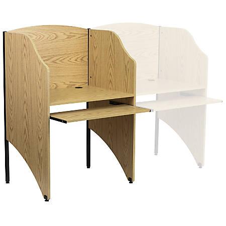 "Flash Furniture Starter Study Carrel, 49 5/8""H x 32 5/8""W x 24 7/16""D, Oak"